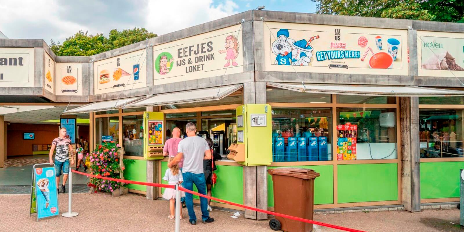 Eefje's ice cream and drinks counter